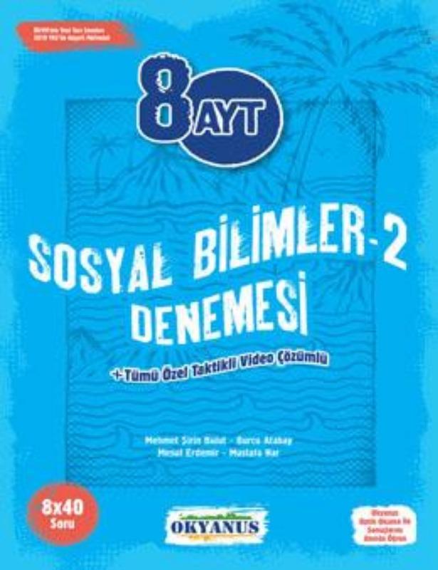 8 Ayt Sosyal Bilimler  2 Denemeleri Okyanus Yayınları