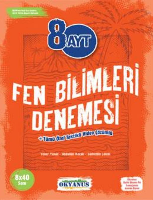 8 Ayt Fen Bilimleri Denemeleri Okyanus Yayınları