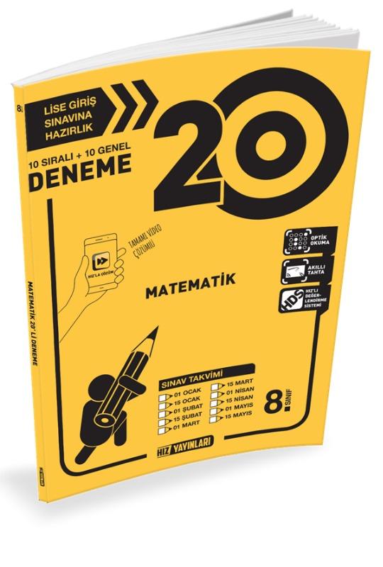 8.Sınıf LGS Matematik 40 Denemeleri Hız Yayınları