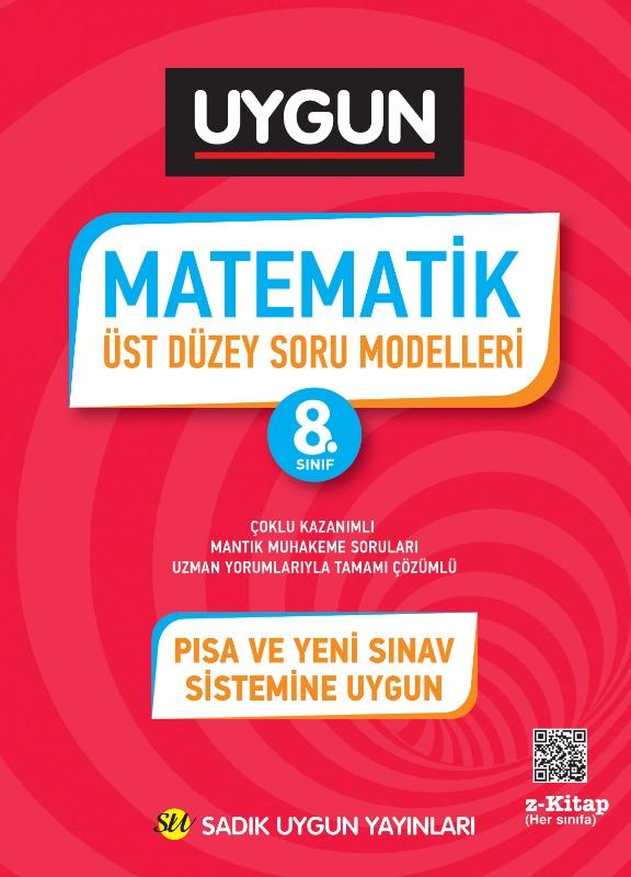 Sadık Uygun Yayınları 8.Sınıf Matematik Üst Düzey Soru Modelleri