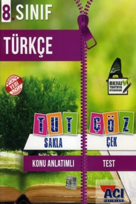 Açı Yayınları 8. Sınıf Türkçe Tut Sakla Çek Çöz