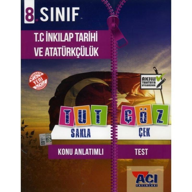 Açı Yayınları 8. Sınıf T.C. İnkılap Tarihi ve Atatürkçülük Tut Sakla Çek Çöz