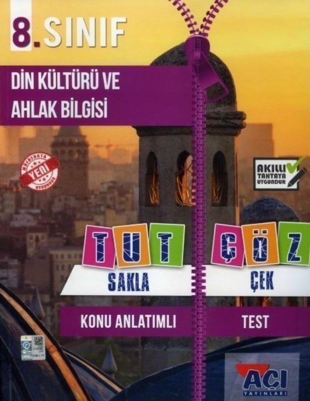 Açı Yayınları 8. Sınıf Din Kültürü ve Ahlak Bilgisi Tut Sakla Çek Çöz