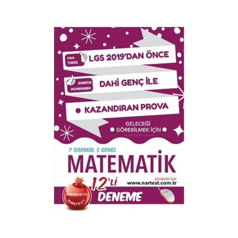 8. Sınıf Dahi Genç Matematik 12 Deneme Sınavı  Web Çözümlü Nartet Yayınları
