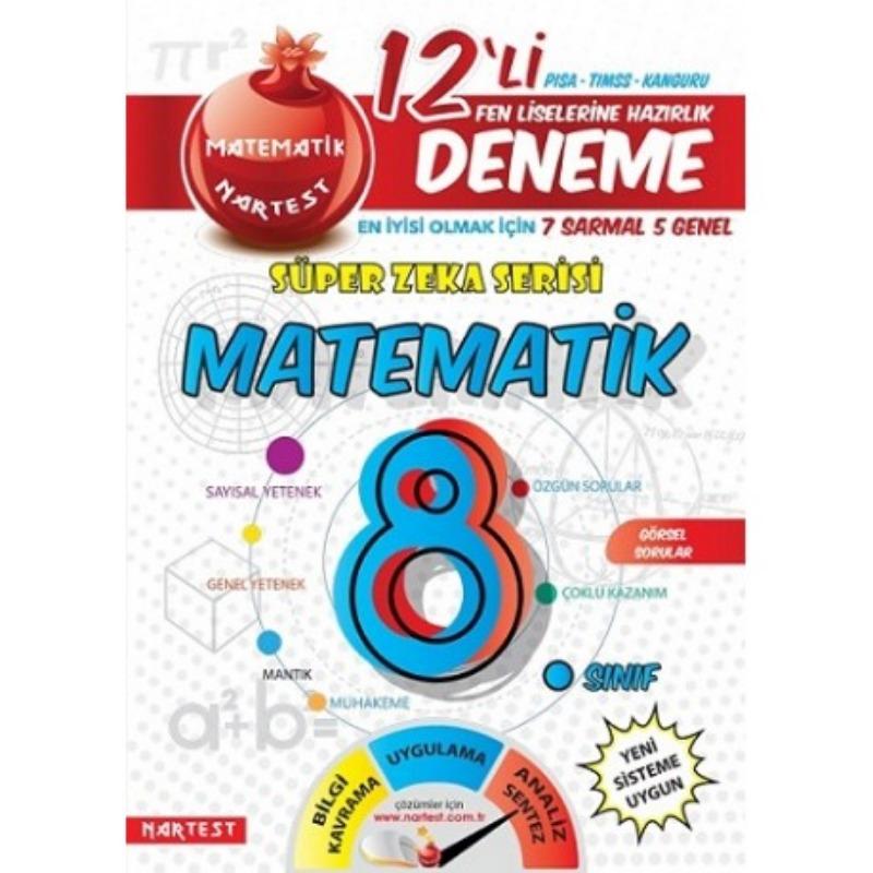 8. Sınıf  Matematik 12 Deneme Sınavı Nartset Yayınları