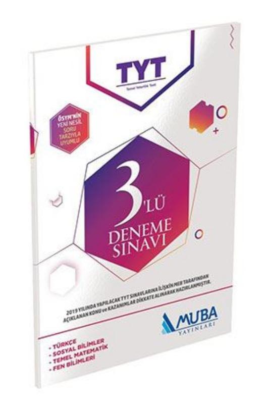 TYT 3 lü Deneme Sınavı Muba Yayınları