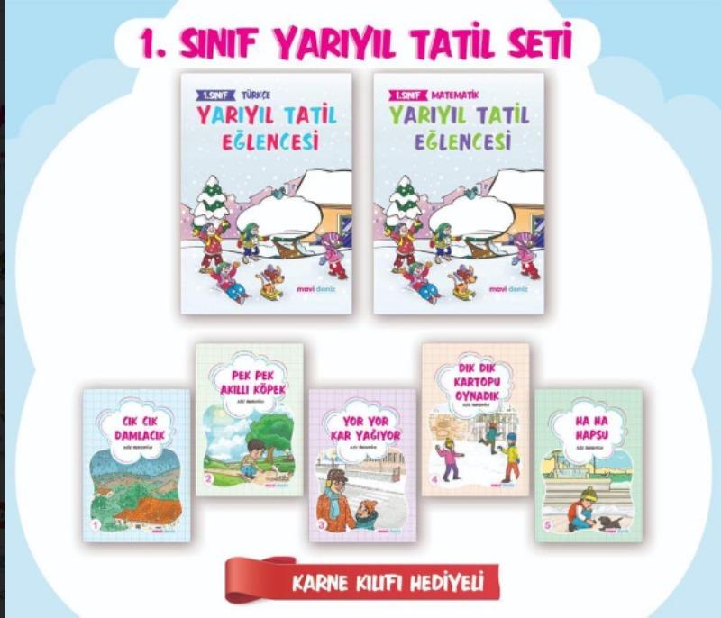 Mavideniz Yayınları 1.Sınıf Yarıyıl Tatil Seti