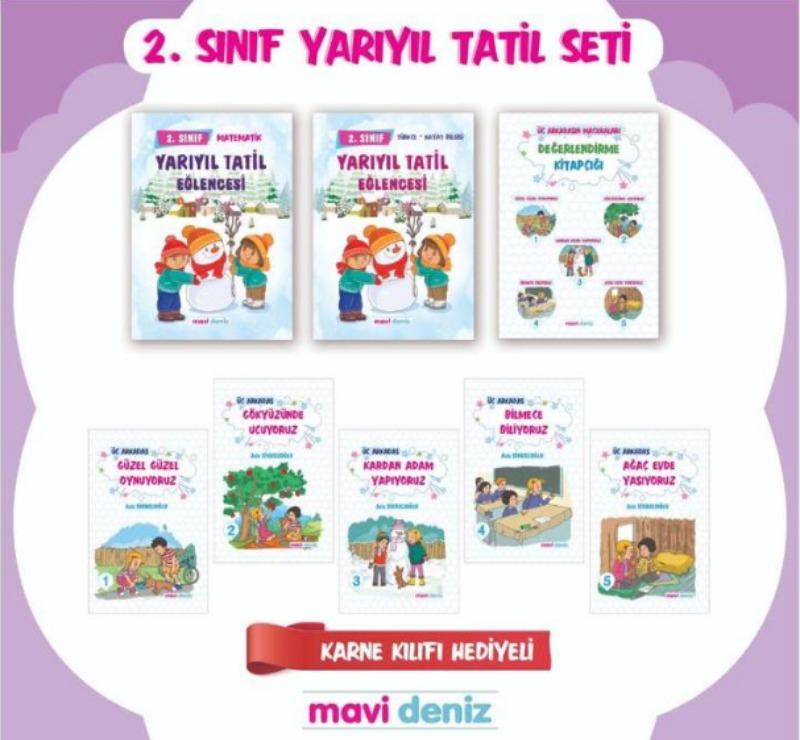 Mavideniz Yayınları 2.Sınıf Yarıyıl Tatil Seti