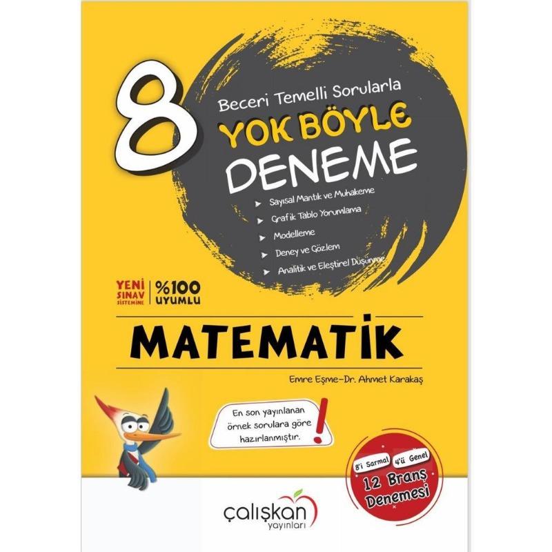 8.Sınıf Matematik Yok Böyle Deneme Çalışkan Yayınları