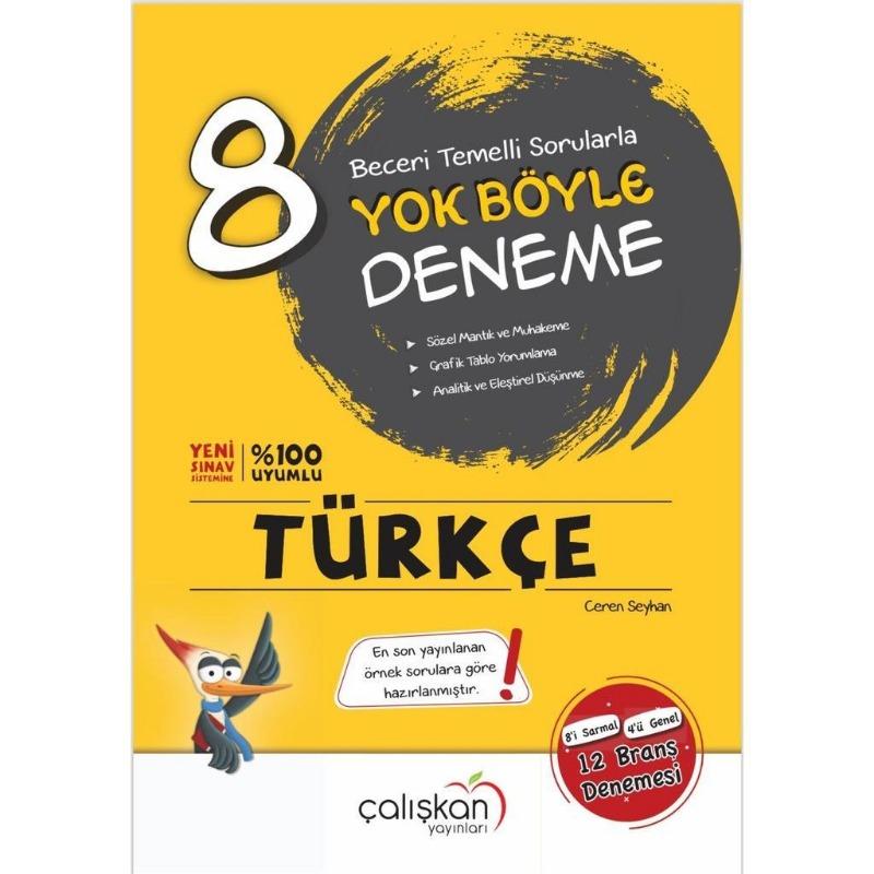 8.Sınıf Türkçe Yok Böyle Deneme Çalışkan Yayınları