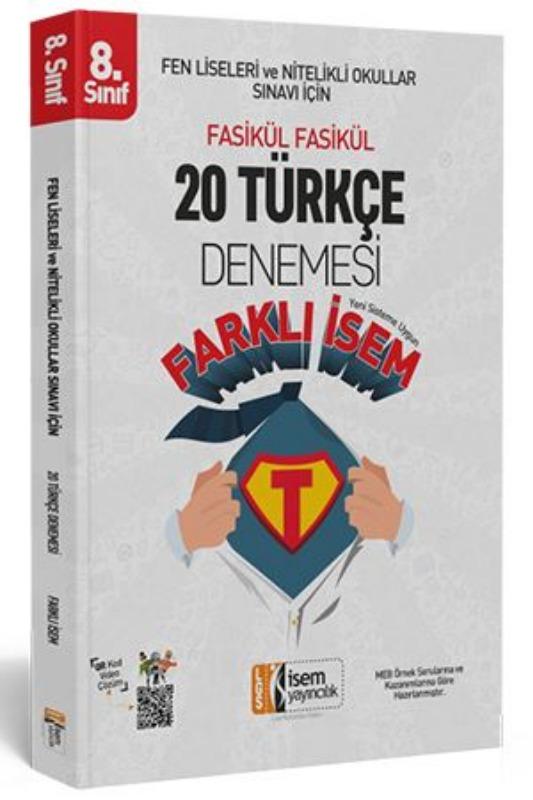 İsem 2019 LGS Farklı İsem 8. Sınıf Türkçe 20 Deneme İsem Yayınları