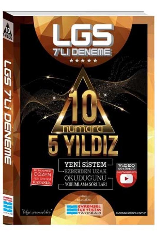 Evrensel  Yayınları LGS 10 Numara 5 Yıldız Video Çözümlü 7li Deneme