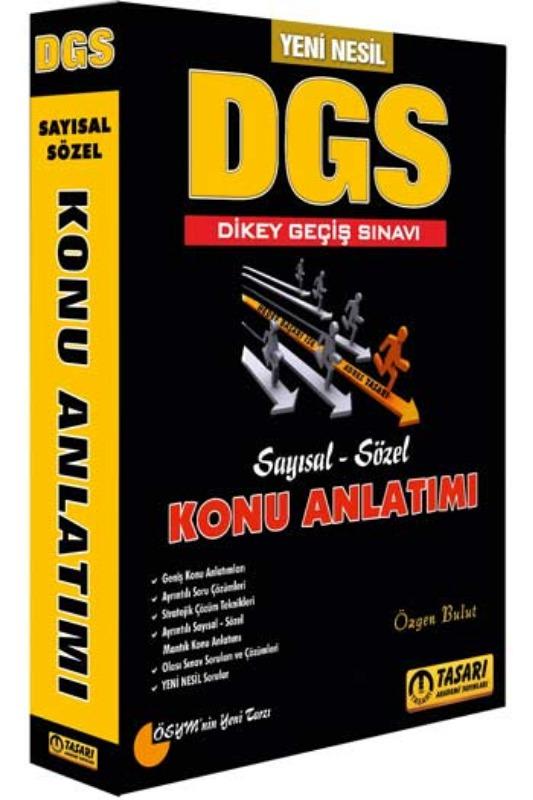 Tasarı Yayınları 2019 DGS Yeni Nesil Konu Anlatımlı Tek Kitap