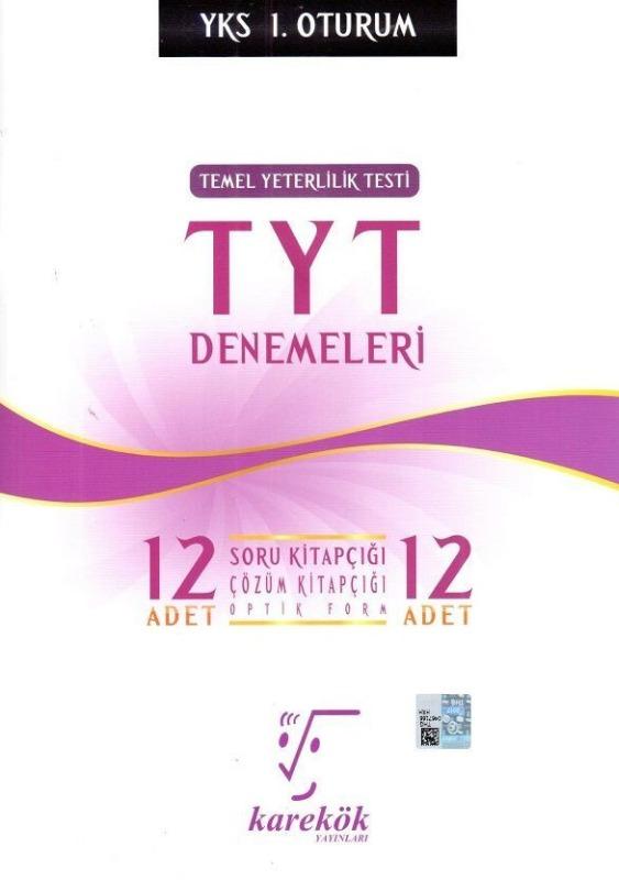 Karekök Yayınları TYT Denemeleri 12 Adet