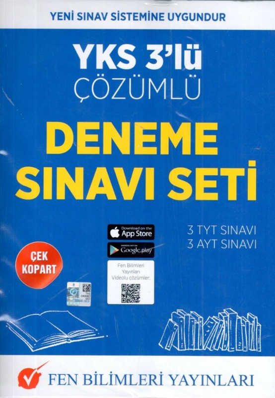 Fen Bilimleri Yayınları YKS 3 lü Çözümlü Deneme Sınavı Seti