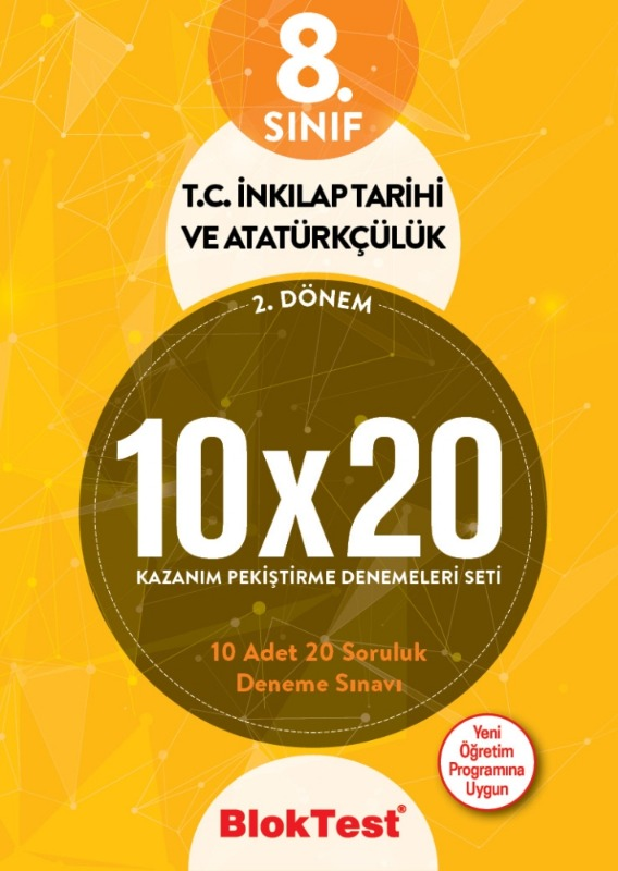8.Sınıf Bloktest 2.Dönem T.C. İnkilap Tarihi ve Atatürkçülük 10 20 Kazanım Pekiştirme Denemeleri Seti