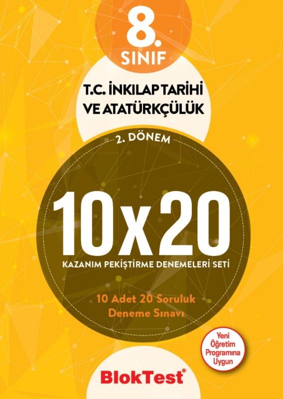 8.Sınıf Bloktest 2.Dönem Türkçe 10 20 Kazanım Pekiştirme Denemeleri Seti