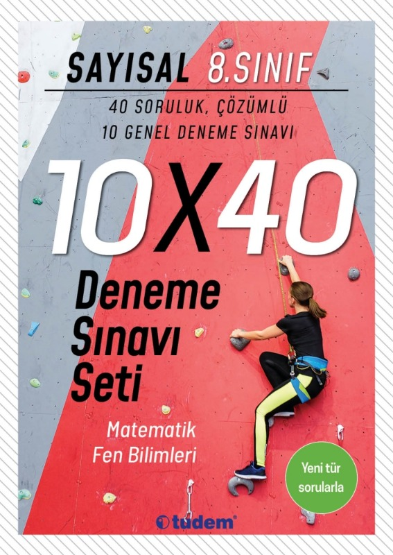 8.Sınıf Sayısal 10x40 Deneme Sınavı Seti Tudem Yayınları