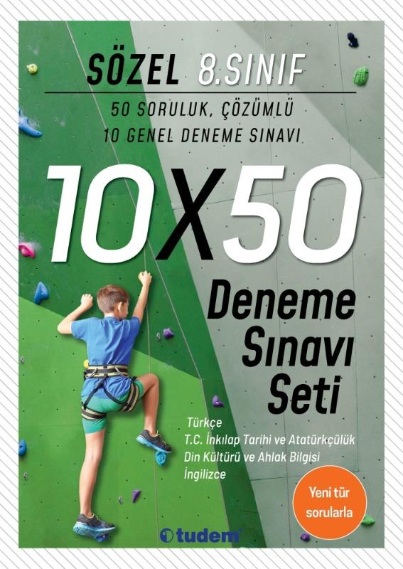 8.Sınıf Sözel 10x50 Deneme Sınavı Seti Tudem Yayınları