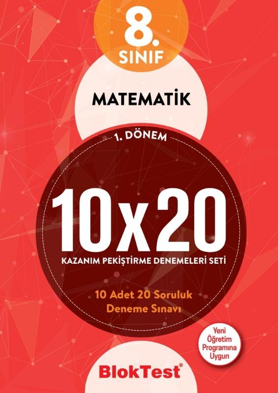 8.Sınıf Bloktest 1.Dönem Matematik 10x20 Kazanım Pekiştirme Denemeleri Seti