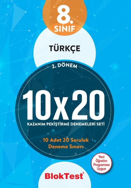 8.Sınıf Bloktest 2.Dönem Türkçe 10x20 Kazanım Pekiştirme Denemeleri Seti Bloktest Yayınları