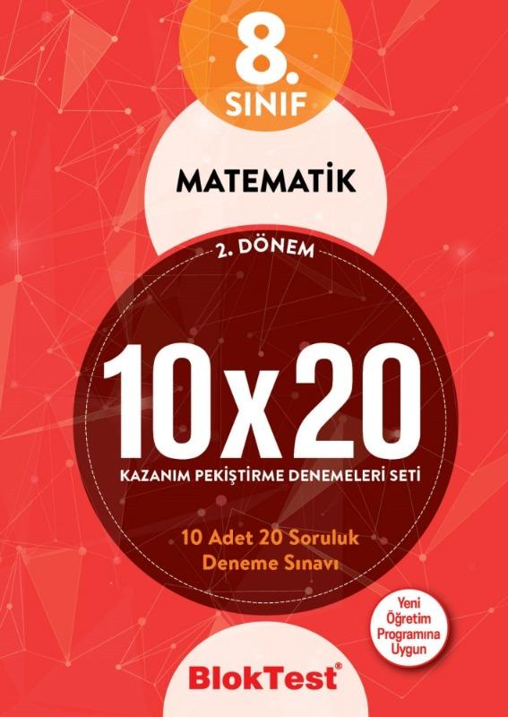 8.Sınıf Bloktest 2.Dönem Matematik 10x20 Kazanım Pekiştirme Denemeleri Seti Bloktest Yayınları