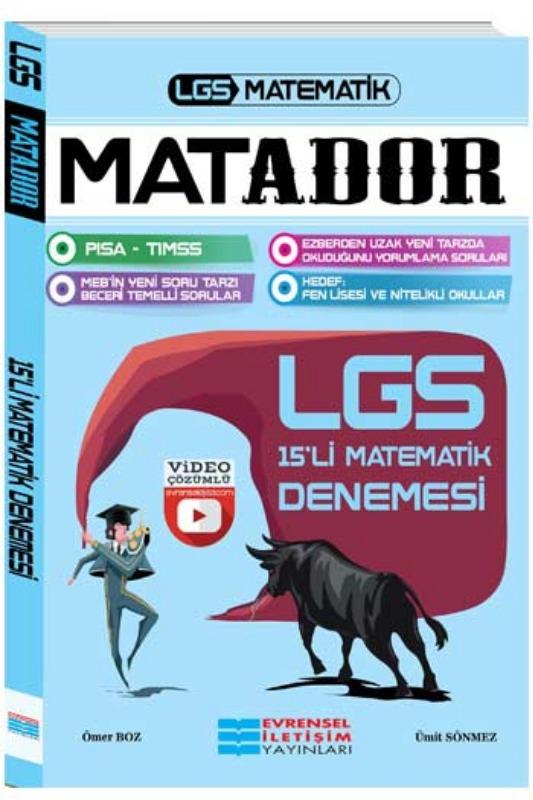 Evrensel İletişim Yayınları LGS Matador Matematik Video Çözümlü 15li Deneme
