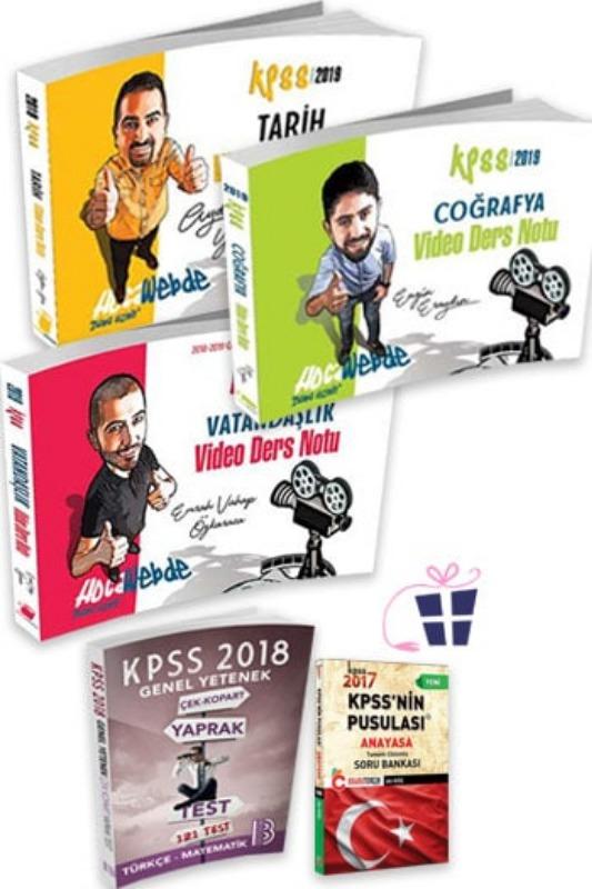 Hediyeli HocaWebde Yayınları 2019 KPSS Genel Kültür Video Ders Notu Seti