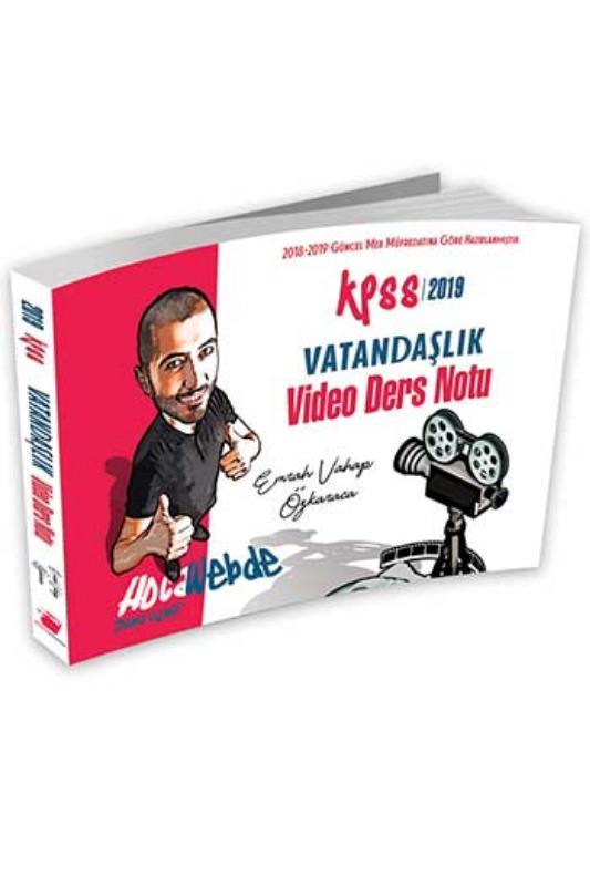 HocaWebde Yayınları 2019 KPSS Vatandaşlık Video Ders Notu