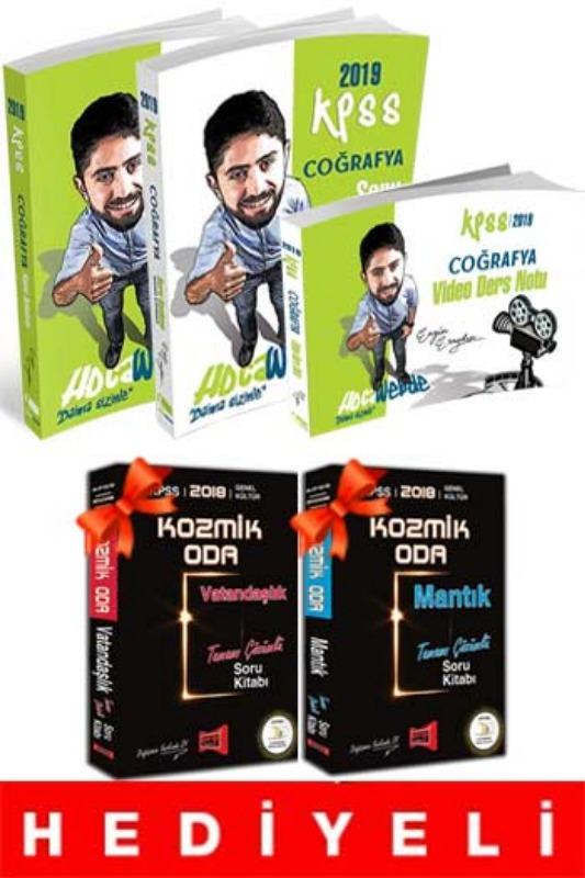 HEDİYELİ HocaWebde Yayınları 2019 KPSS Coğrafya Muhteşem 3lü Set