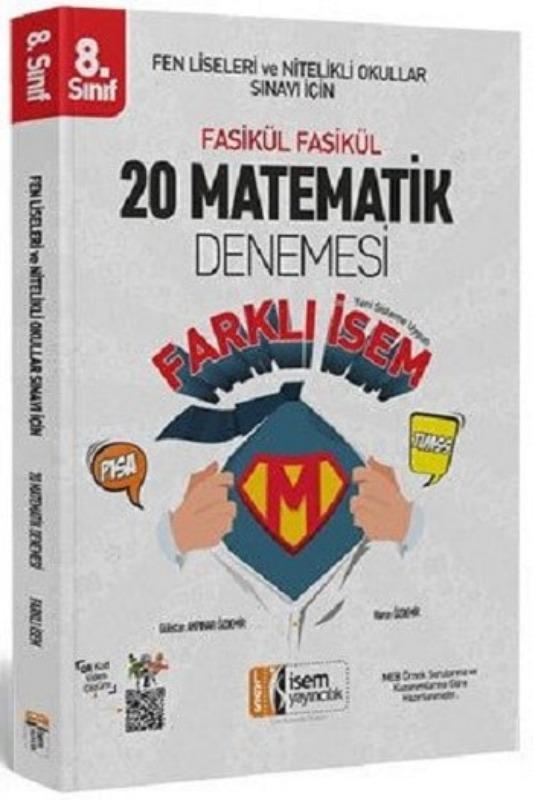 İsem Yayınları 8. Sınıf LGS Farklı İsem Matematik 20 Deneme