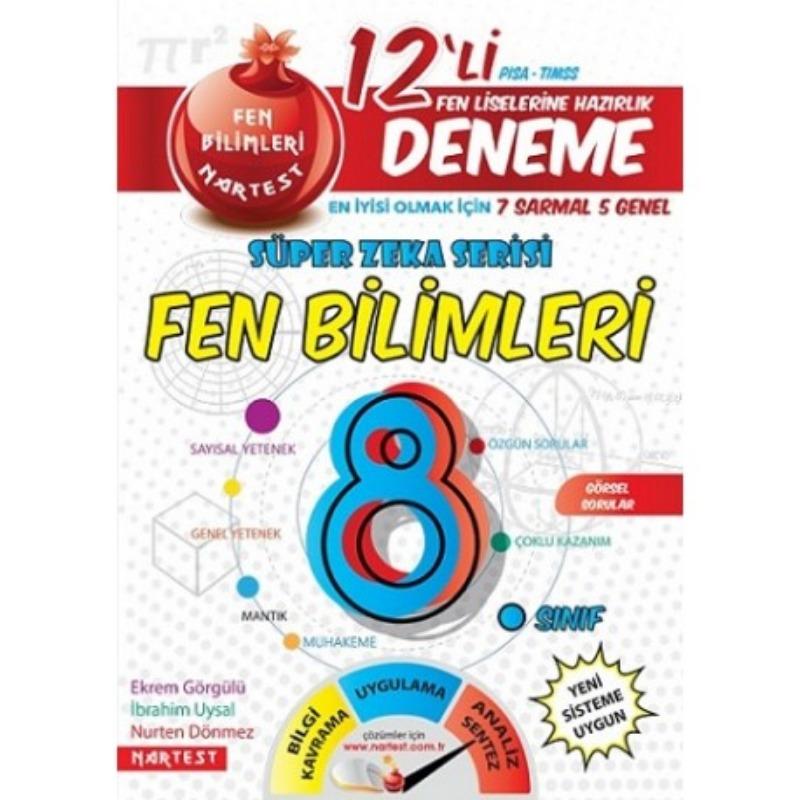 8. Sınıf Nar Fen Bilimleri 12 Deneme Sınavı (7 Sarmal + 5 Genel)