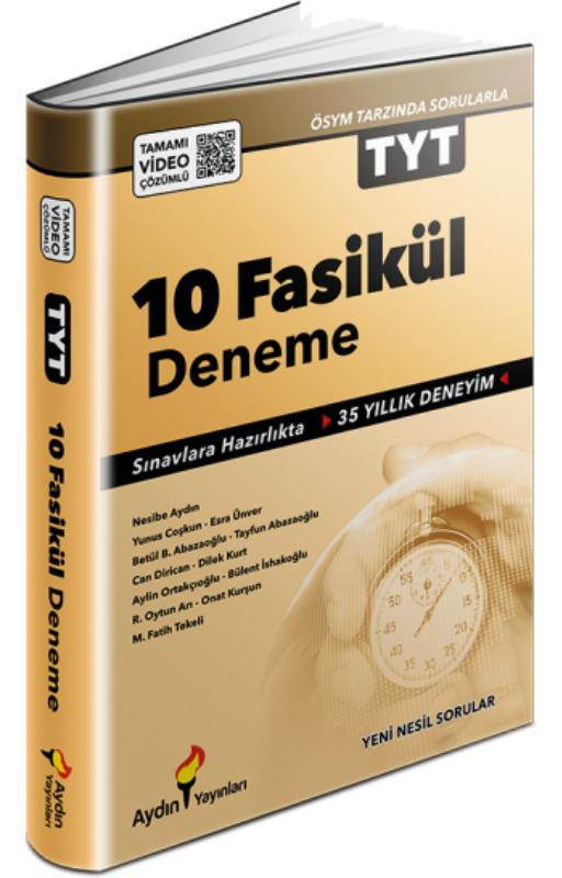 Aydın Yayınları TYT 10 Fasikül Deneme Video Çözümlü