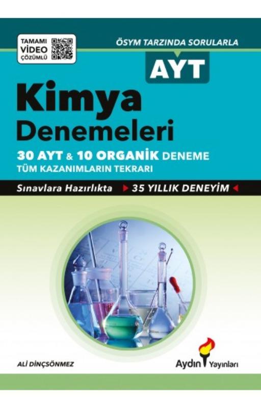 Aydın Yayınları AYT Kimya Denemeleri Video Çözümlü