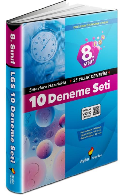 Aydın Yayınları 8. Sınıf LGS 10 Deneme Seti Video Çözümlü