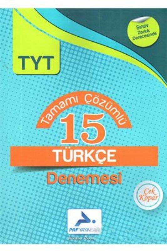 Paraf TYT Türkçe Tamamı Çözümlü 15 Denemesi Prf Paraf Yayınları