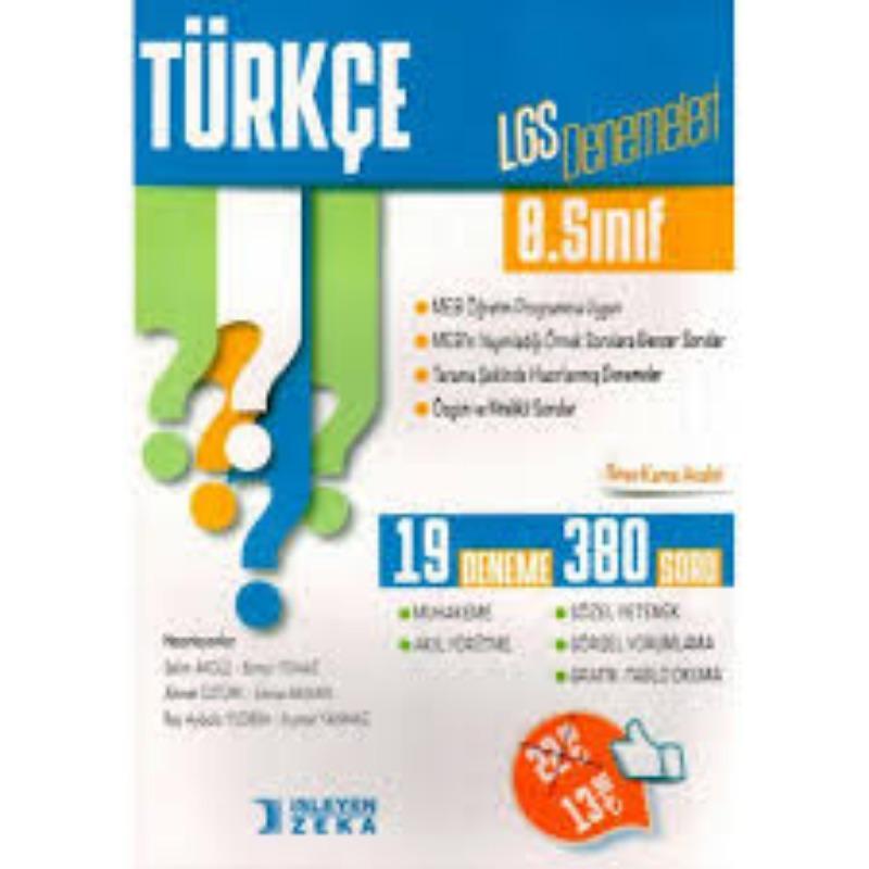 İşleyen Zeka Yayınları 8. Sınıf LGS Türkçe Denemeleri