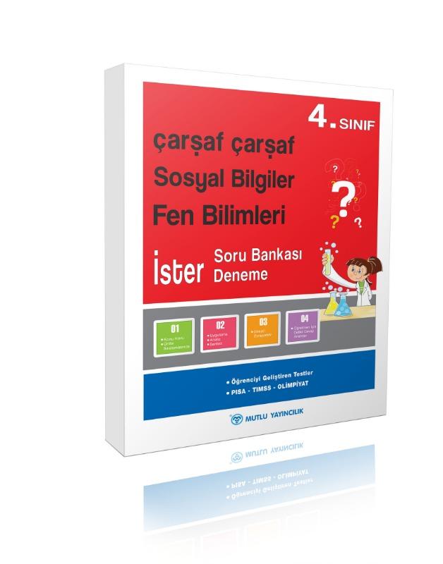 4.Sınıf Mutlu Yayınları Çarşaf Çarşaf Türkçe 4 Deneme Soru Bankası