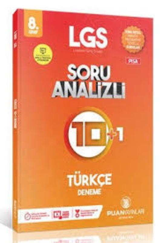 Puan Yayınları 8. Sınıf Türkçe 10 + 1 Soru Analizli Deneme