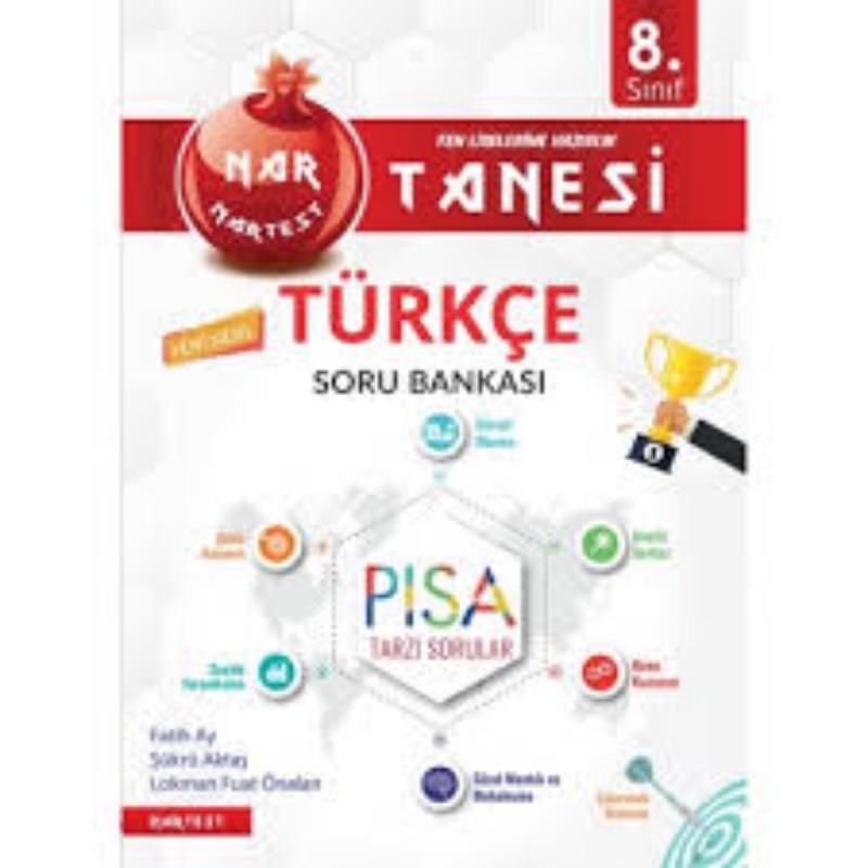 Nartest Yayın 8.Sınıf Nar Tanesi Pısa Türkçe Soru Bankası 2019