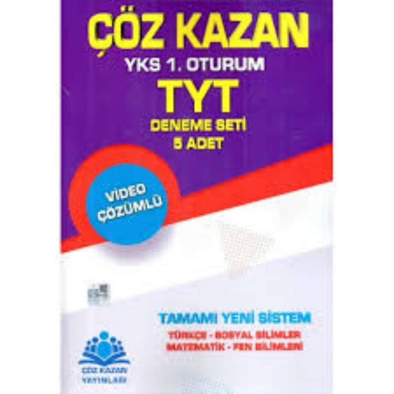 Çöz Kazan Yayınları TYT 5 Video Çözümlü Deneme Seti