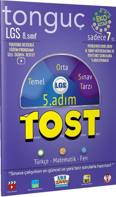 8. Sınıf LGS Tost 5. Adım Tonguç Akademi