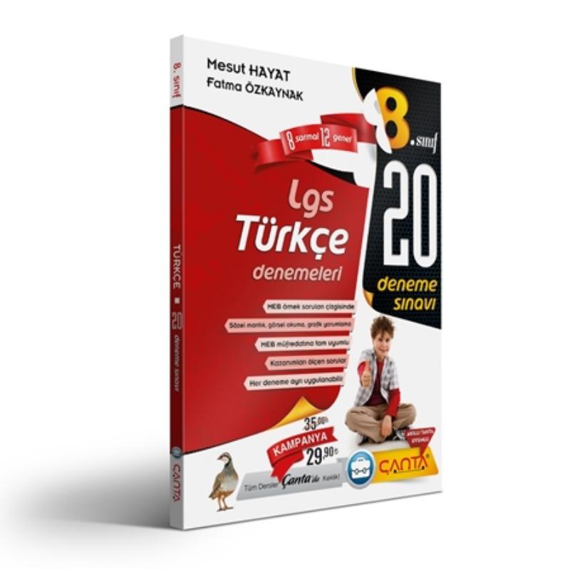 8.Sınıf Türkçe Lgs 20 Deneme Sınavı Çanta Yayınları