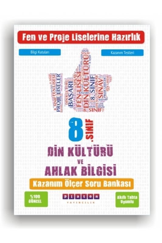 Platon Yayınları 8. Sınıf Din Kültürü ve Ahlak Bilgisi Kazanım Ölçer Soru Bankası