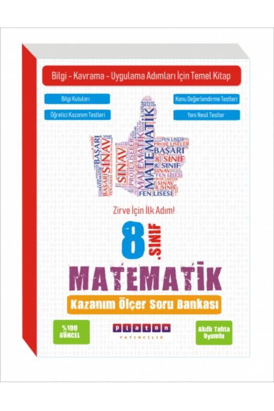 Platon Yayınları 8. Sınıf Matematik Kazanım Ölçer Soru Bankası
