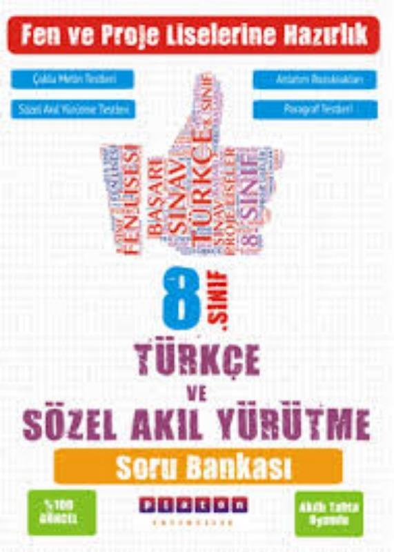 Platon Yayınları 8. Sınıf Türkçe ve Sözel Akıl Yürütme Kazanım Ölçer Soru Bankası