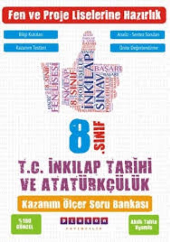 Platon Yayınları 8. Sınıf T.C. İnkılap Tarihi ve Atatürkçülük Kazanım Ölçer Soru Bankası