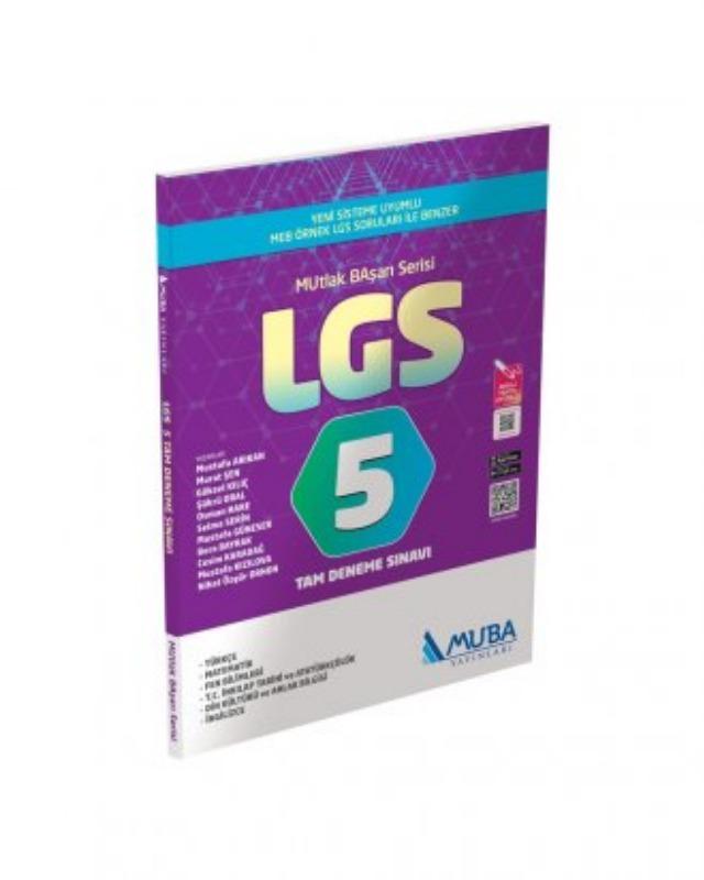 LGS 5 Tam Deneme Sınavı Muba Yayınları