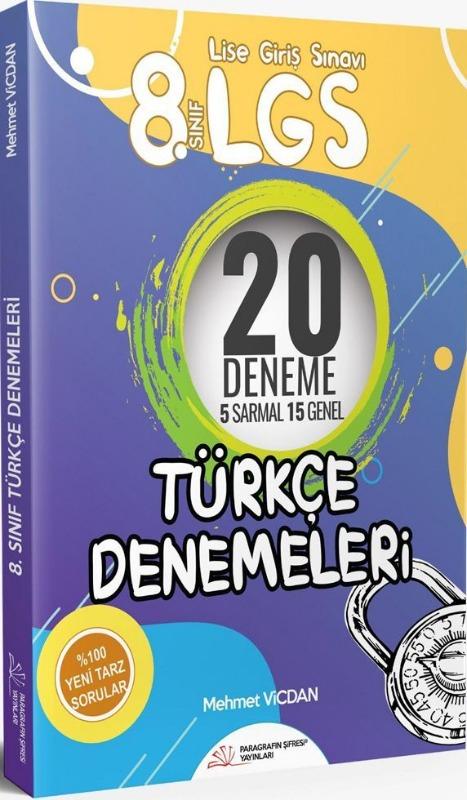 Paragrafın Şifresi Yayınları 8. Sınıf LGS Türkçe 20 Deneme