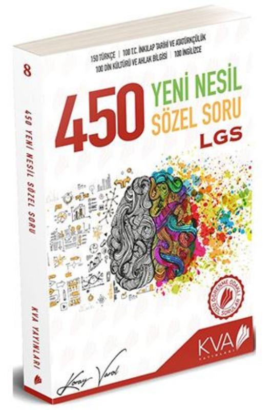 KVA LGS 450 Yeni Nesil Sözel Soru KVA Yayınları